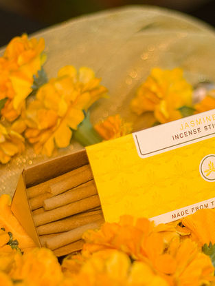 Jasmine Bamboo-less Dhoop Sticks (Pack of 20)