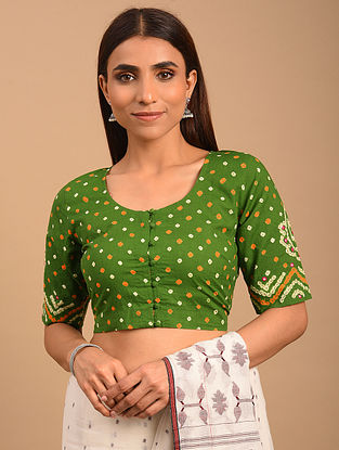 Brown Bandhani Cotton Blouse