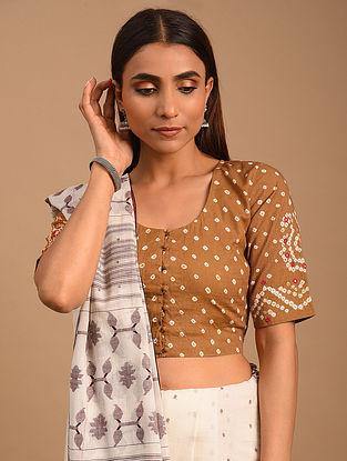Brown Bandhani Cotton Blouse