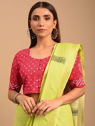 Pink Bandhani Cotton Blouse