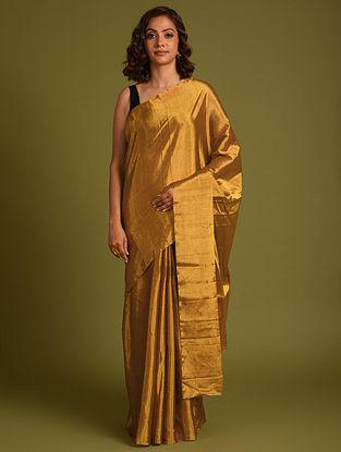 Gold Handwoven Tissue Saree