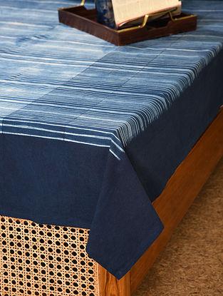 Indigo Cotton Single Bed Cover (L - 90in, W - 61in)
