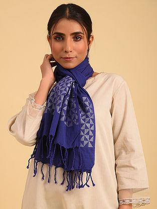 Purple Handloom Jamdani Cotton Stole