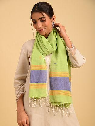 Green Handloom Jamdani Cotton Stole