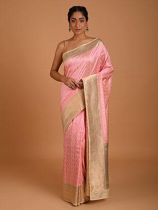 Pink Handwoven Benarasi Silk Saree