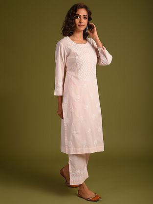 Pink Chikankari Cotton Kurta and Pants