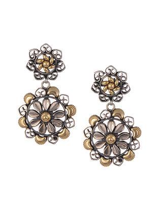 Dual Tone Silver Earrings