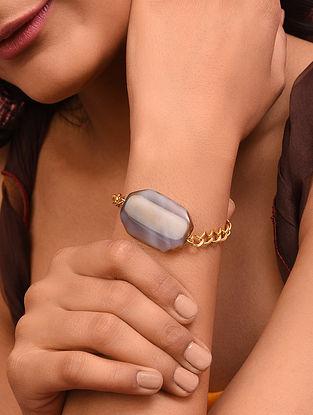 Brown Tiger Eye Gold Tone Handcrafted Bracelet
