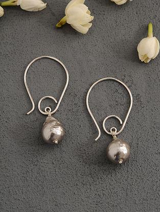 Grey Baroque Pearl Silver Earrings
