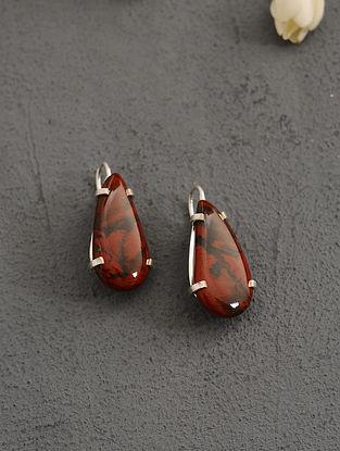 Red Jasper Silver Earrings