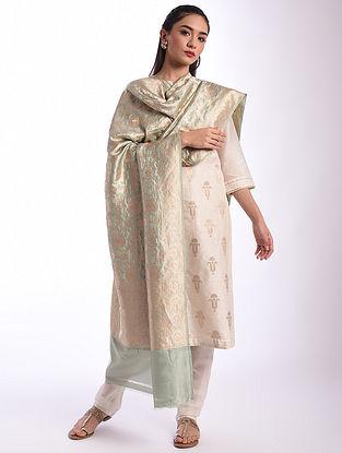 Green Benarasi Handwoven Silk Dupatta