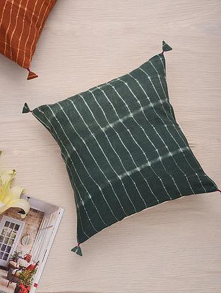 Hand Done Shibori Corn Cotton Slub Cushion Cover (L-16in, W-16in)