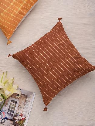 Hand Done Shibori Pine Apple Cotton Slub Cushion Cover (L-16in, W-16in)