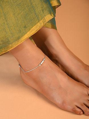 Meenakari Silver Anklet