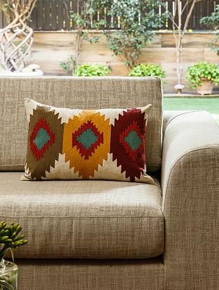Multicolour Cotton Izmir Kilim Cushion (L- 20in, W- 14in)