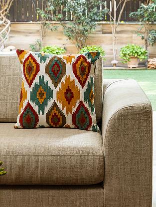 Multicolour Cotton Amasya Kilim Cushion (L- 18in, W- 18in)