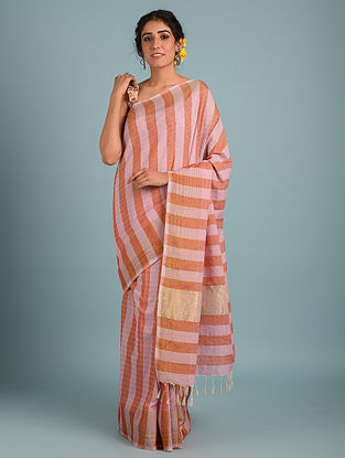 Red Handwoven Pure Cotton Saree