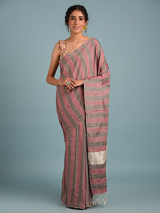 Pink Handwoven Pure Cotton Saree