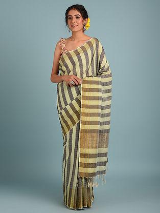 Brown Handwoven Pure Cotton Saree