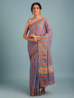 Blue Handwoven Pure Cotton Saree