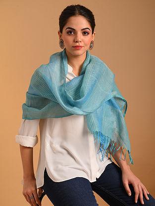 Blue Handwoven  Linen Stole