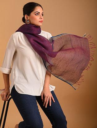 Purple Handwoven  Linen Stole