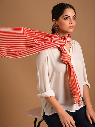 Red Handwoven  Cotton Stole