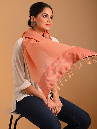 Pink Handwoven  Cotton Stole