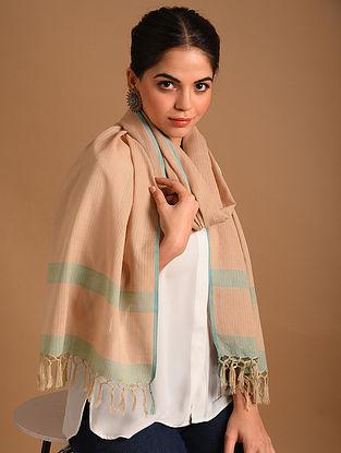 Brown Handwoven  Cotton Stole