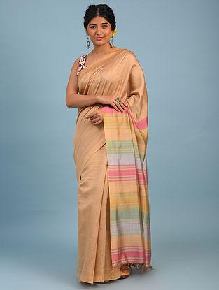 Gold Bhagalpuri Eri And Mulberry Silk Saree