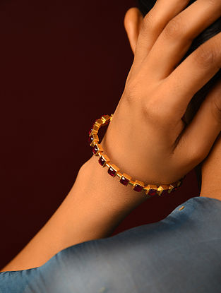 Red Gold Plated Bangles (Size 2/7)