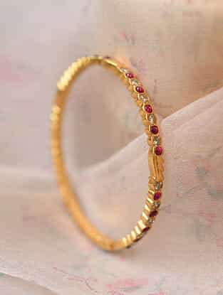 Red Gold Plated Bangles (Size 2/4)