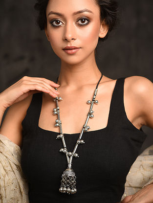 Silver Tone Tribal Necklace