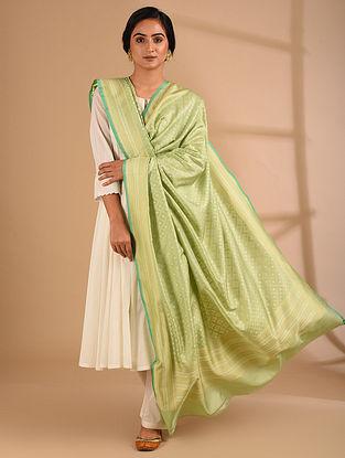 Green Benarasi Handloom  Silk Dupatta