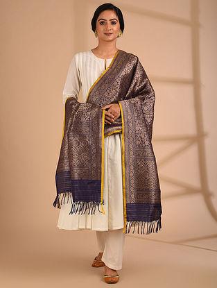 Blue Benarasi Handloom  Silk Dupatta