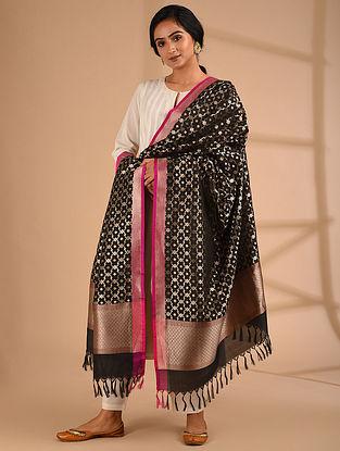 Black Benarasi Handloom  Silk Dupatta
