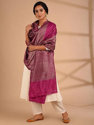 Pink Benarasi Handloom  Silk Dupatta