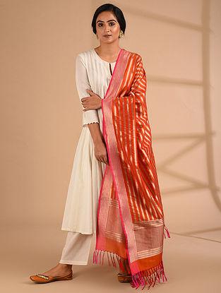 Red Benarasi Handloom  Silk Dupatta