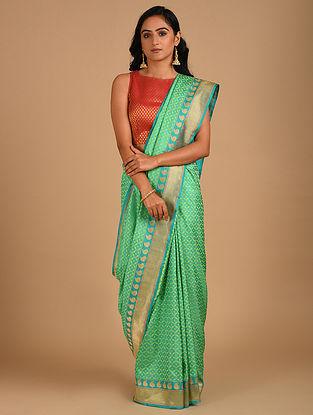 Green Handloom Benarasi Silk  Saree