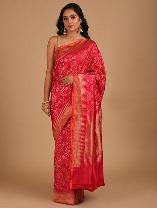 Red Handloom Benarasi Silk  Saree