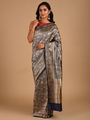 Blue Handloom Benarasi Silk  Saree
