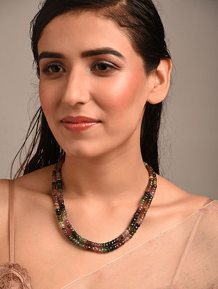 Multicolour Beaded Necklace with Tourmalines