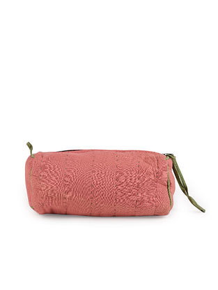 Pink Handcrafted Kantha Work Cotton Pouch