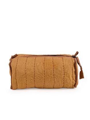 Orange Handcrafted Kantha Work Cotton Pouch