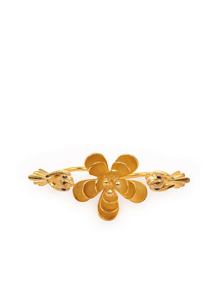 Gold Tone Handcrafted Adjustable Ring