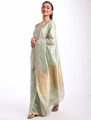 Grey Benarasi Handwoven Silk Saree