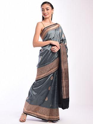 Blue Benarasi Handwoven Silk Saree