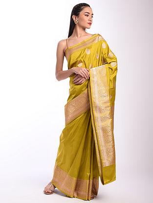 Yellow Benarasi Handwoven Silk Saree