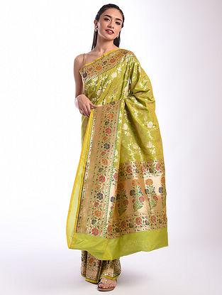 Green Benarasi Handwoven Silk Saree