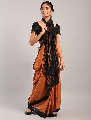 Brown Handloom Sambalpuri Ikat Cotton Saree